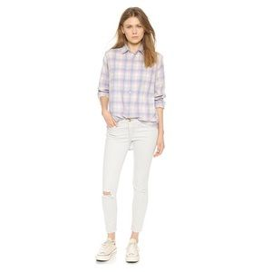 Current/Elliott Prep School Shirt In Desert Plaid